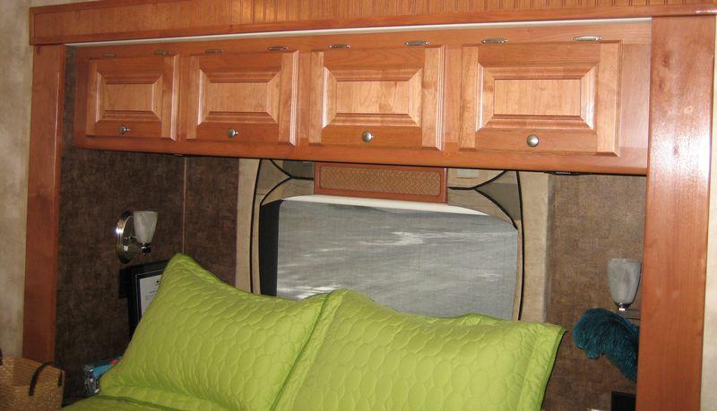 Cupboards in bedroom