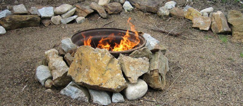 RV campfire