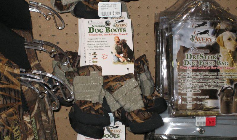 Camo doggy boots