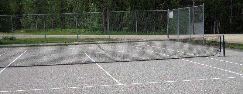 Tennis court done