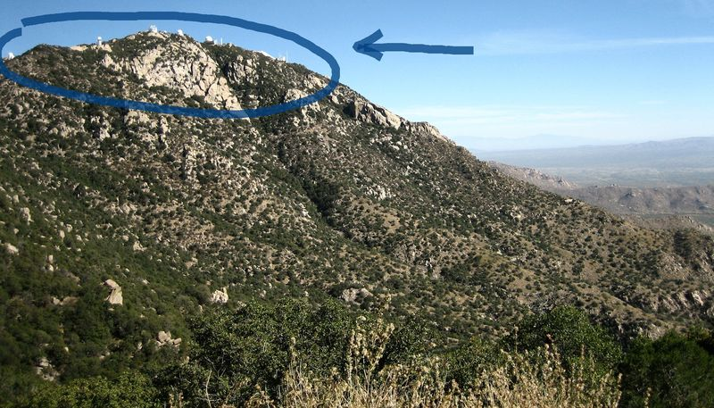The peak of Kitt Peak