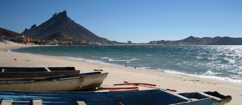 Playa Algodones boats