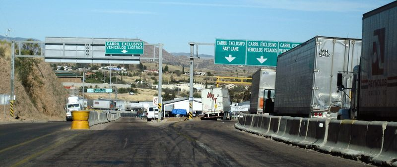 Nogales border to AZ 4
