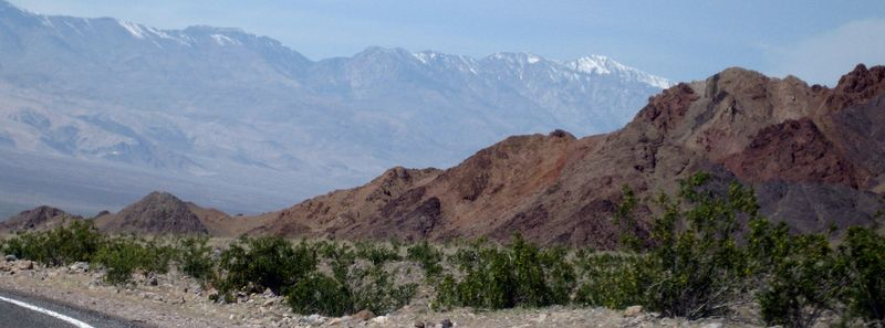 031  red rocks and snowy peaks in Death Valley