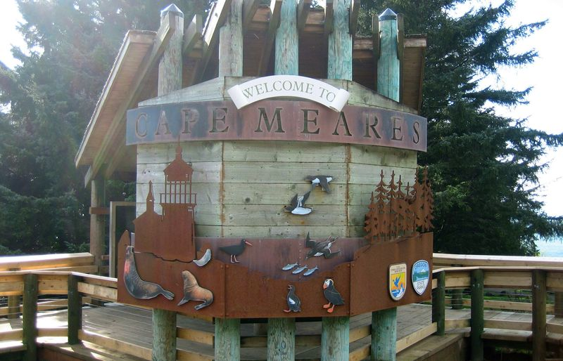Cape meares sign