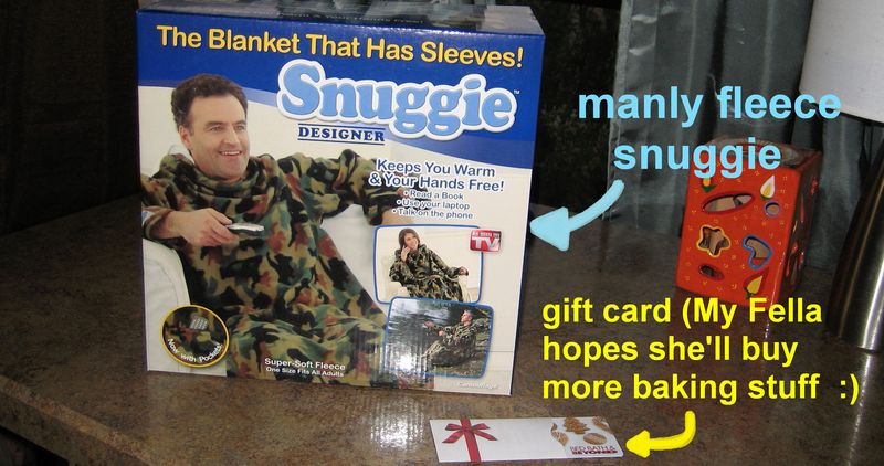Snuggie and gift card