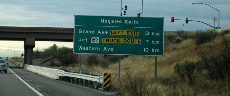 Border 1 Nogales exit