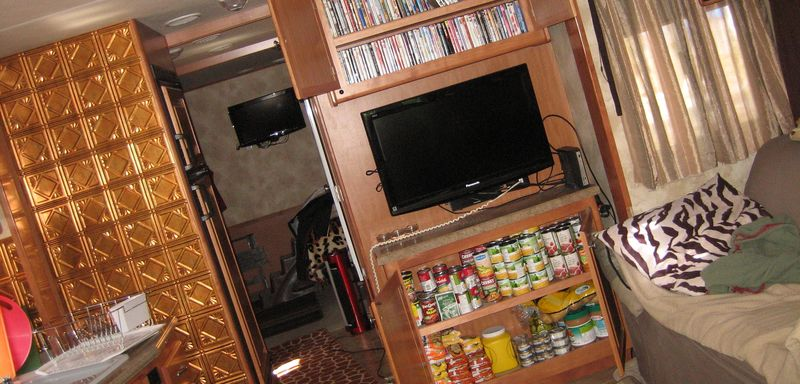 Food and movies cupboard