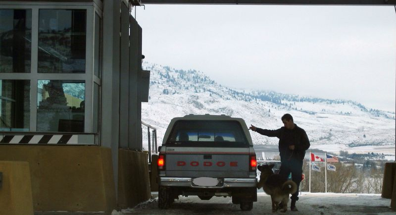 Border crossing into USA