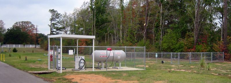 Propane and a fenced in little doggy run