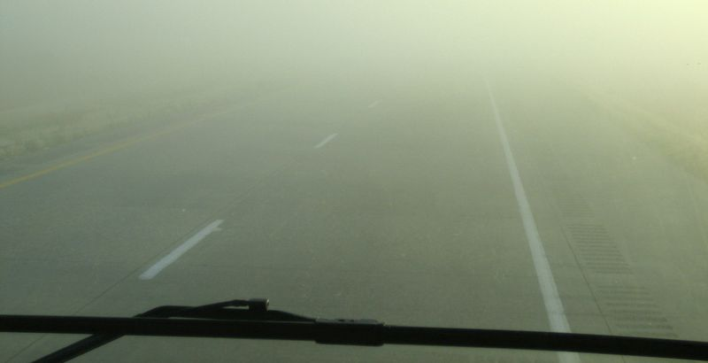 Kinda foggy this morning