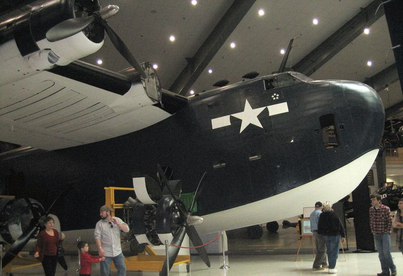 One of the larger planes in the hangar