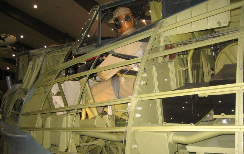 Interior of the PBY cockpit
