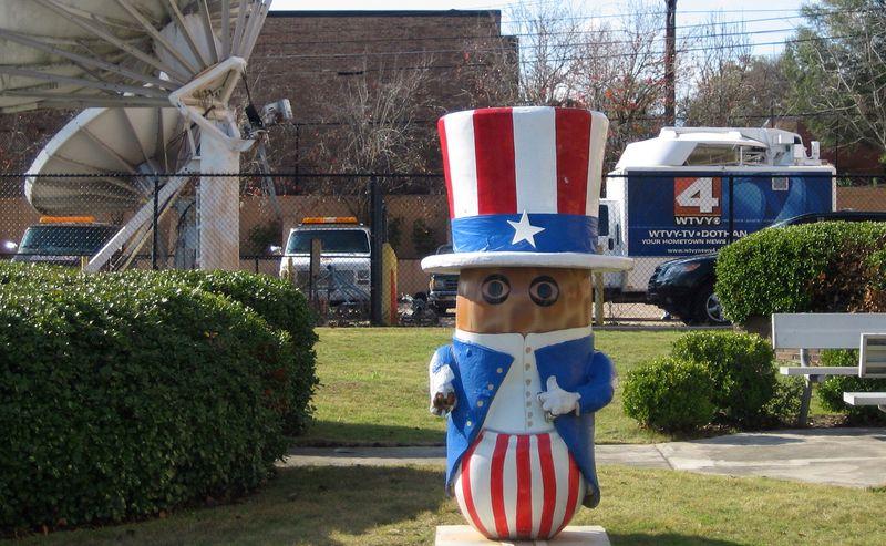 Eye on America peanut outside WTVY-TV