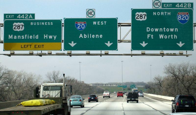 Westbound I-20 towards Abilene