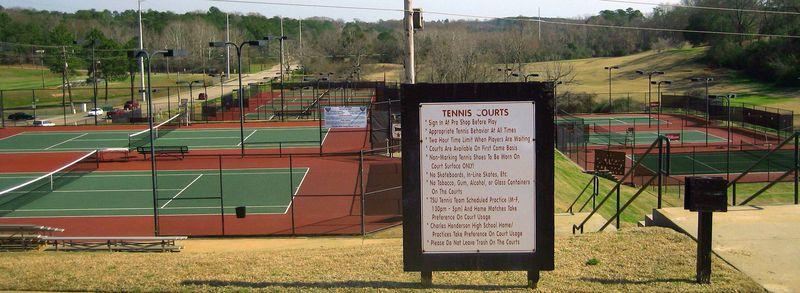 Amazing tennis courts at Troy University