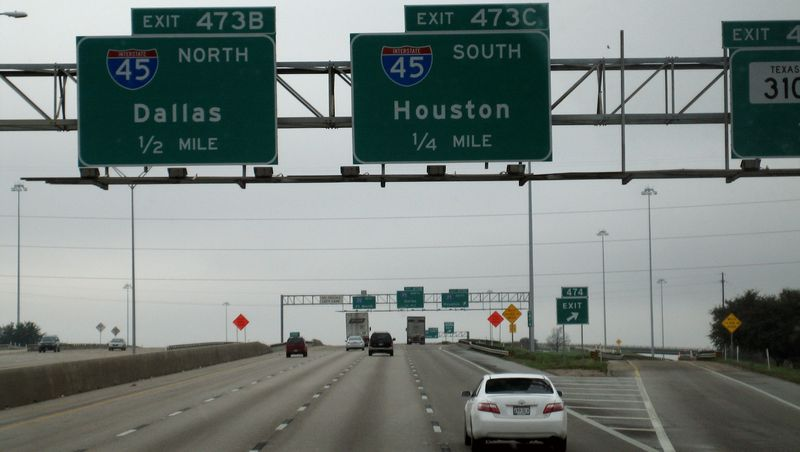 Interstate 20 heading to Dallas