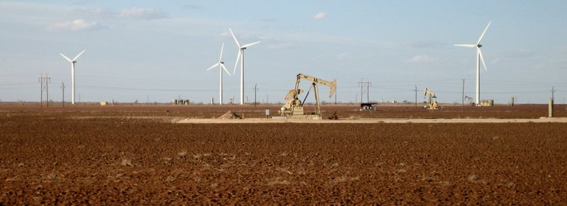 More rigs backed by the wind turbines