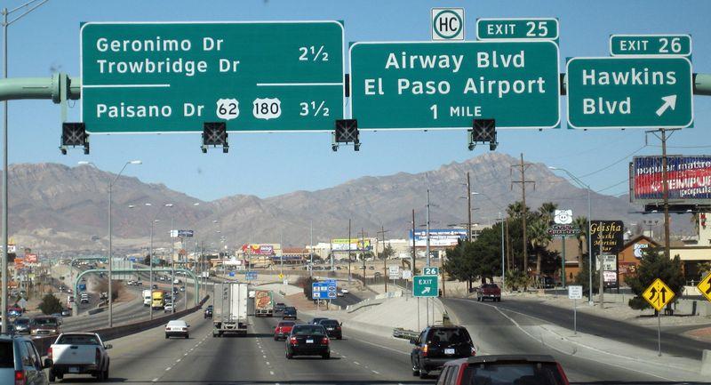 El Paso road signs