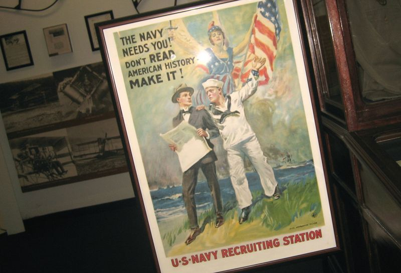Copies of the old recruiting posters hung everywhere