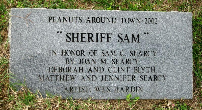 Sheriff Sam outside the Krispy Kreme