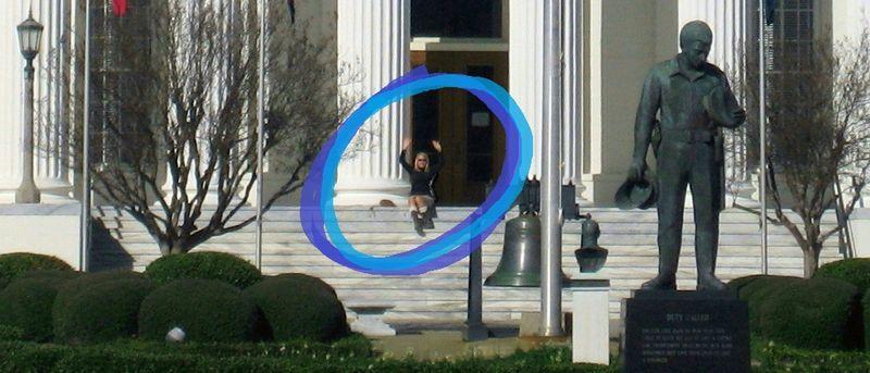 Kelsi on the steps