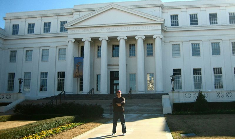 My Fella at the Archives an History building