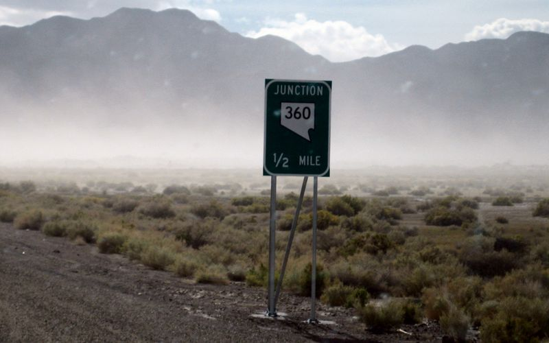 Sign in the haze