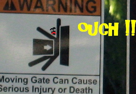 Gate ouch!!!!!!