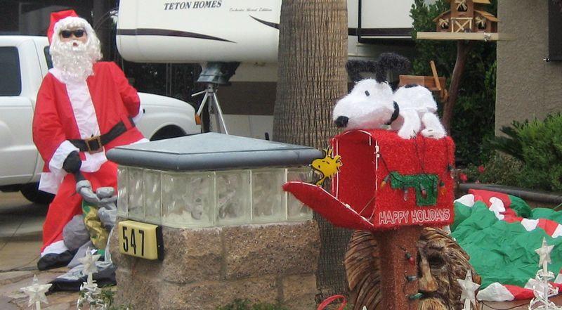 Snoopy and santa