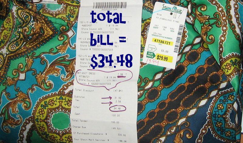 SteinMart receipt