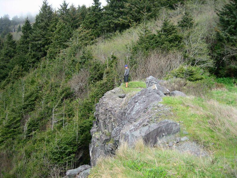 My Fella on the cliff edge