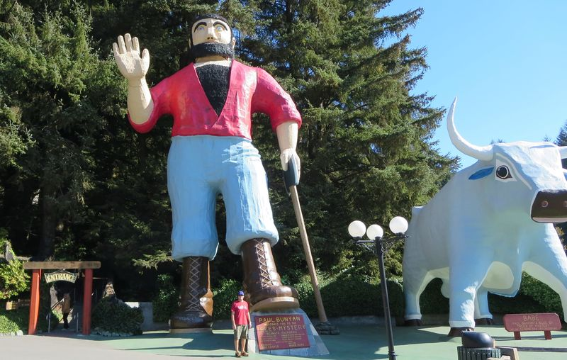 My Fella guarding Paul Bunyan