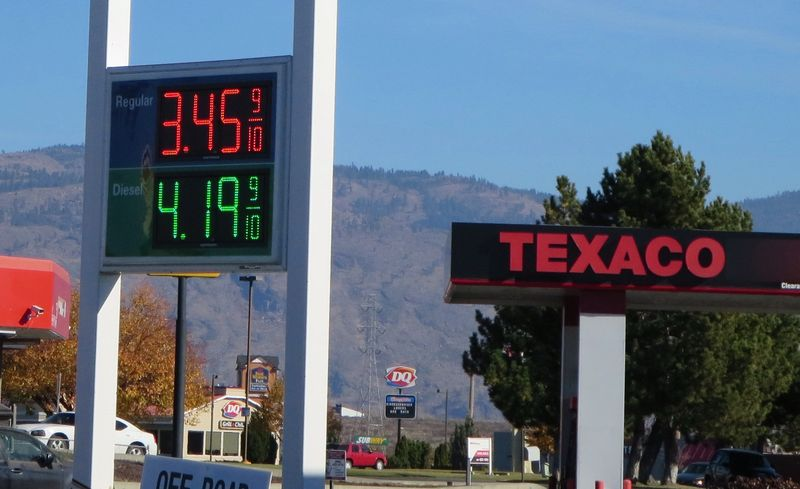 3.45 for gas in Omak