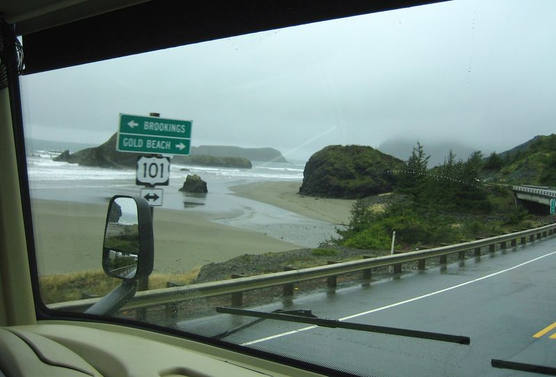 Heading north towards Brookings