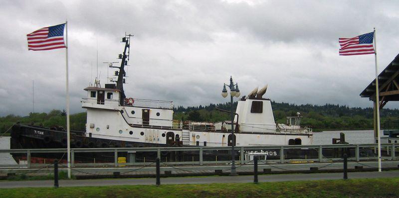 Ship at Coos Bay