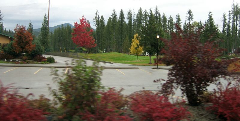 Last glimpse of the golf course