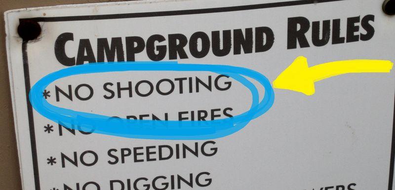 NO SHOOTING