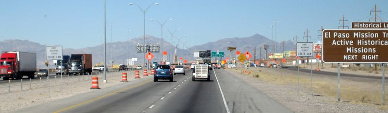 Road construction on the outskirts of El Paso