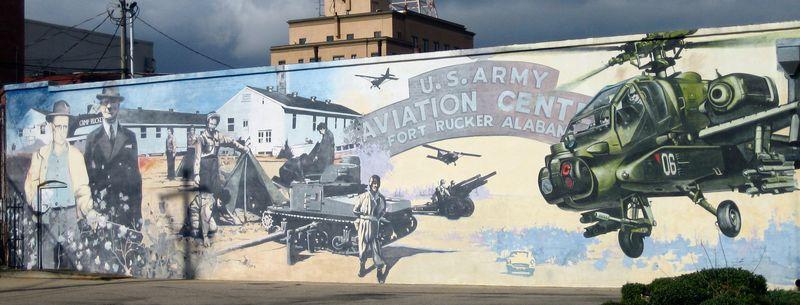 Fort Rucker Aviation center mural