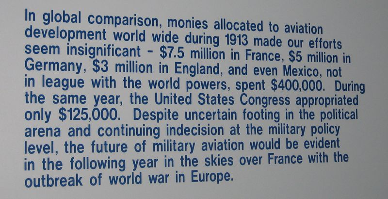 The US spent $125,000 on aviation in 1913