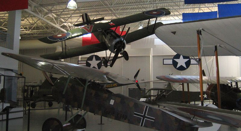 Sopwith Camel at the top of the pic