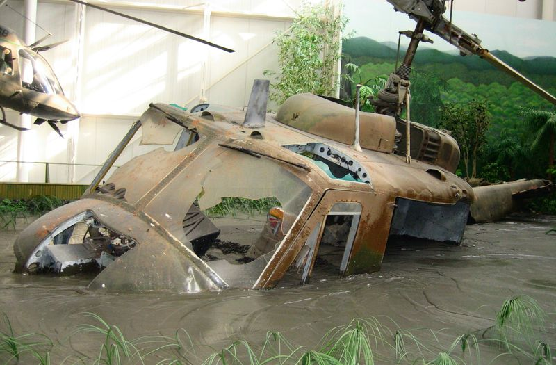 Re-enactment of a chopper crash