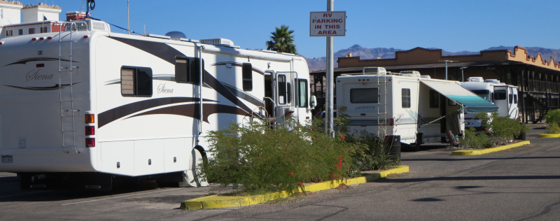 RV parking at the casino