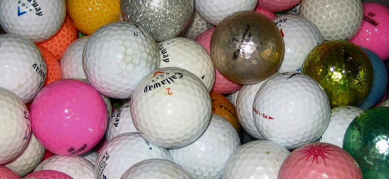 Golf balls in waiting