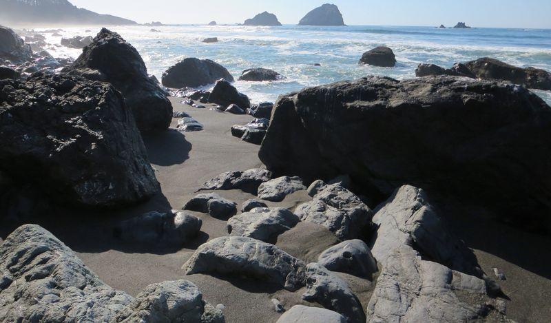 Rocky edge of the shore