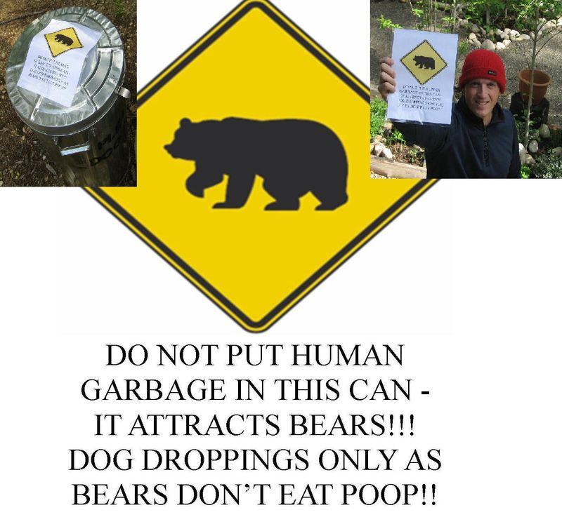 Bear sign