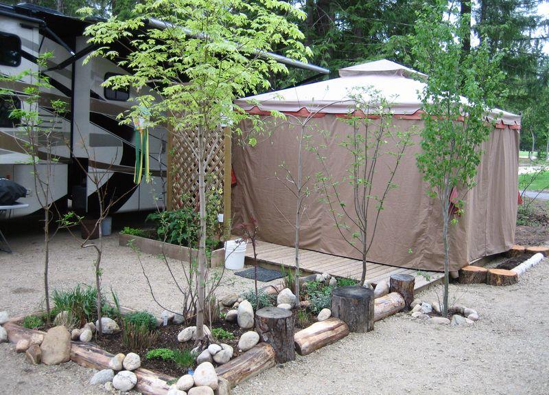 Front garden and gazebo