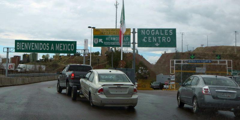 Entering Mexico