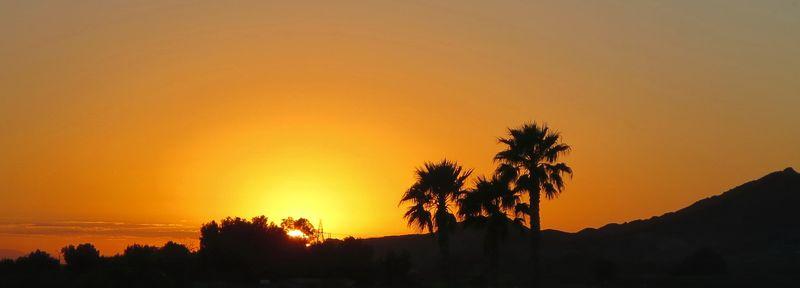 Sunset beyond the resort